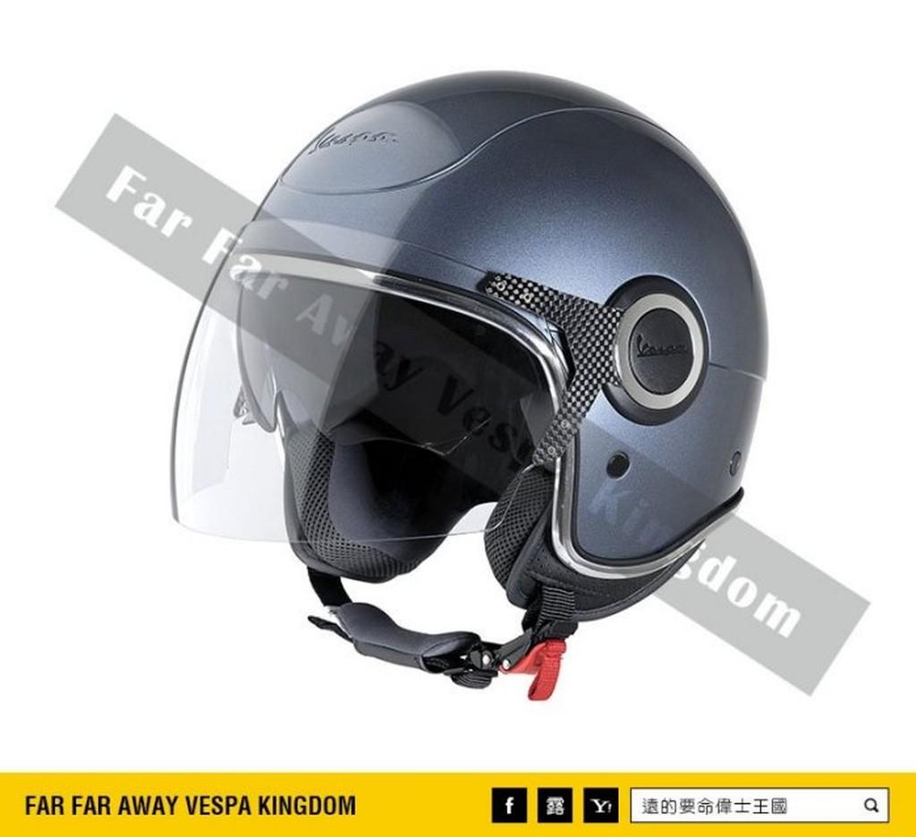 遠的要命偉士王國 Vespa 原廠 安全帽 VJ 藍鯨灰 雙鏡片 ET8/LX/S/GTS/GTV