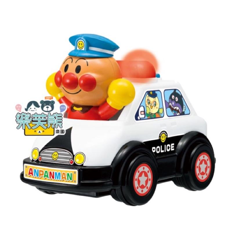 新款 麵包超人 警車 手動 警鈴 玩具