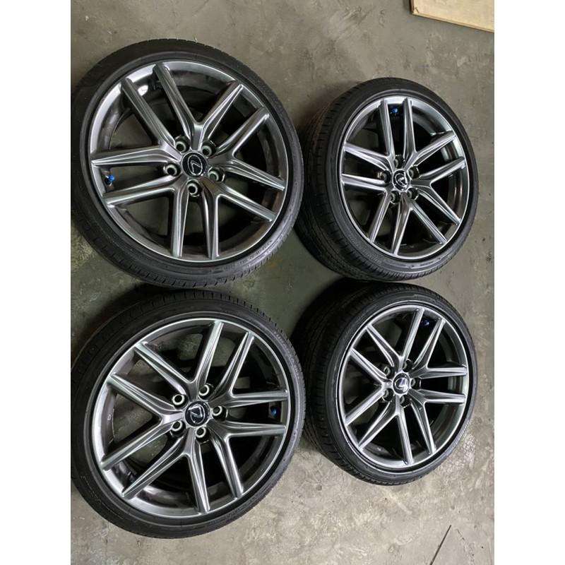Lexus原廠IS200T F sport 18吋鋁圈含輪胎
