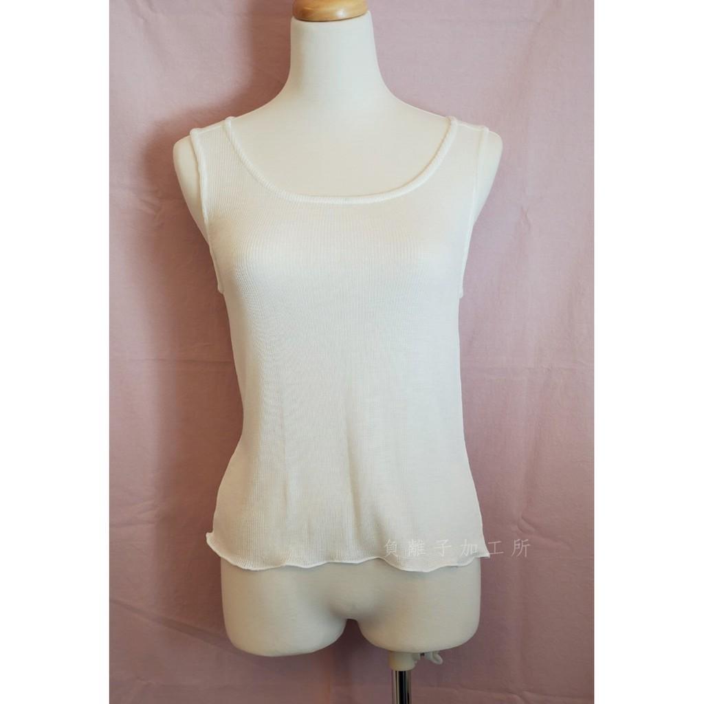 妮芙露 負離子 方巾無袖背心 (肩膀加長)  內搭背心 100%妮美龍