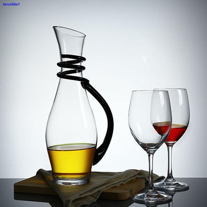 ❀紅酒杯套裝家用水晶6只裝大號葡萄杯架歐式醒酒器玻璃高腳杯酒杯