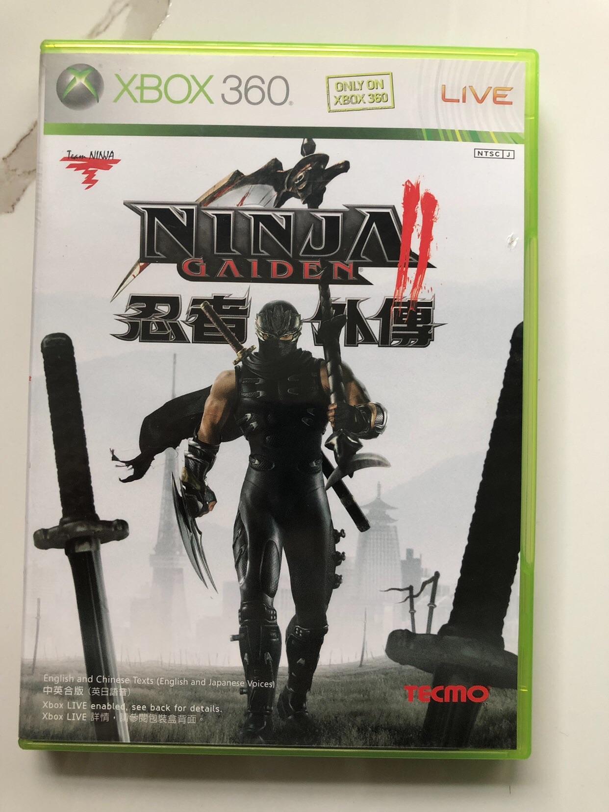 【遊戲光盤】xbox360正版遊戲光碟 忍龍2/忍者龍劍傳2/忍者外傳2 港版中文