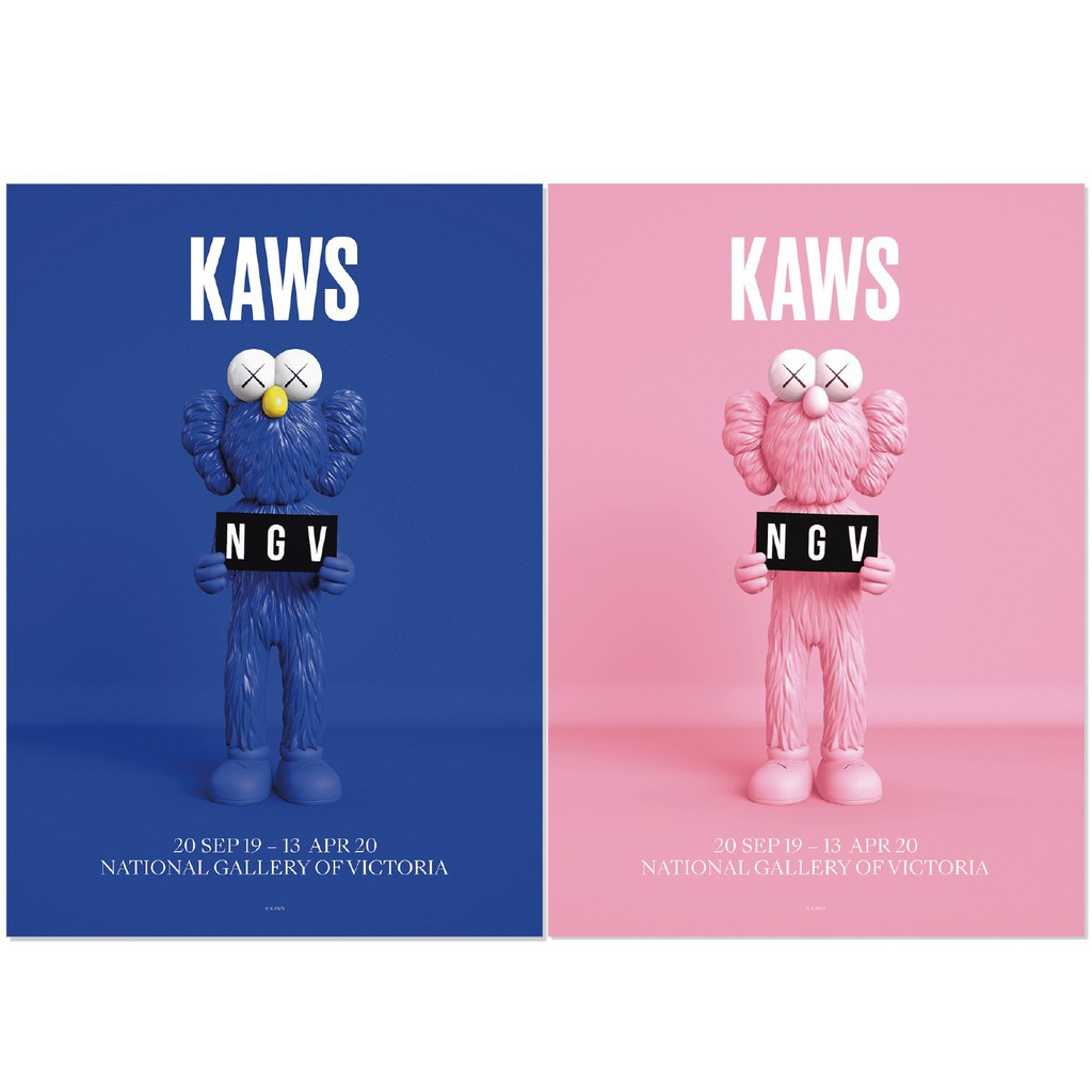 KAWS BFF Poster 海報兩款 【多納藝術商店 donnaartshop】