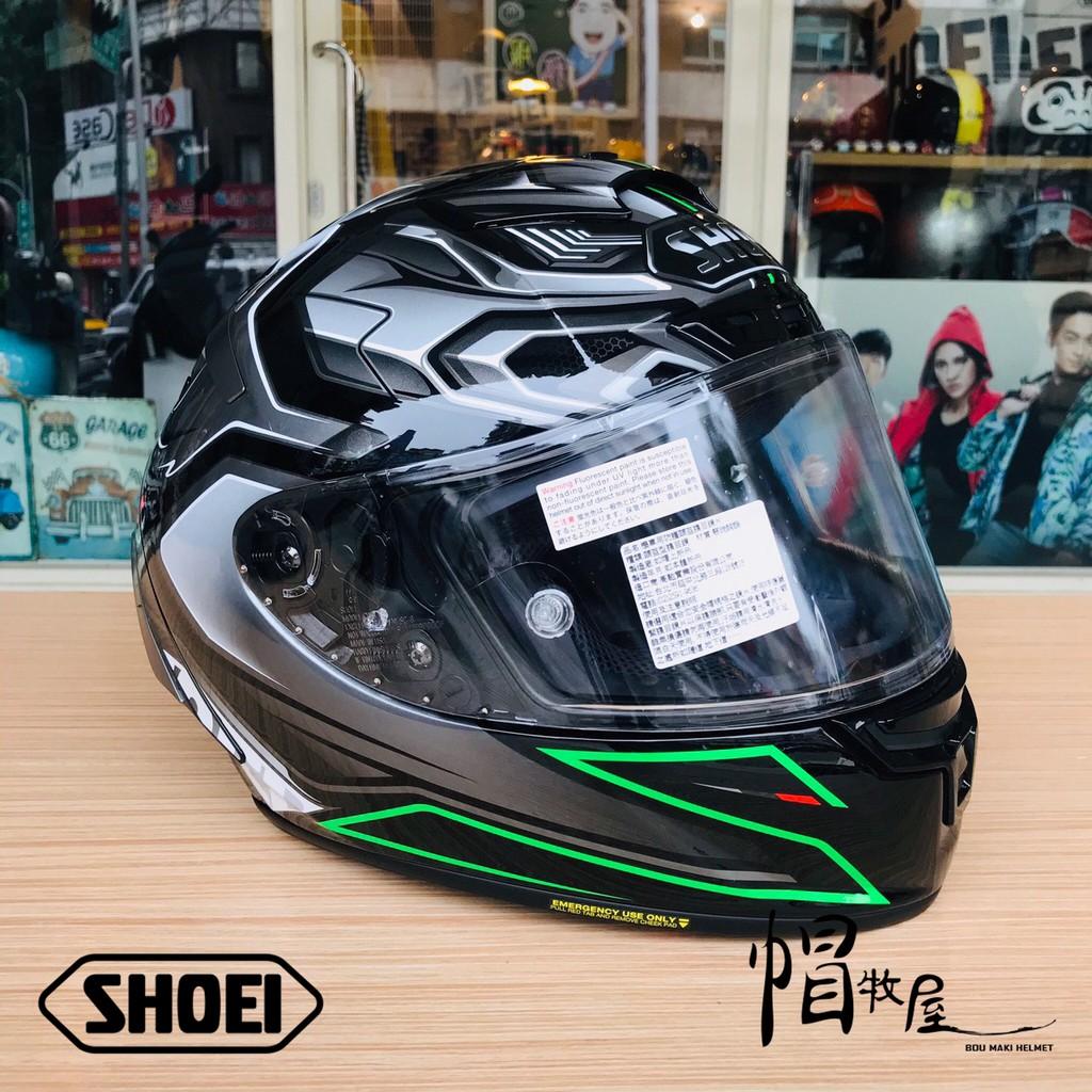 【帽牧屋】日本 SHOEI X14 AERODYNE TC-4 全罩式安全帽 進口帽 選手帽 公司貨 綠/銀