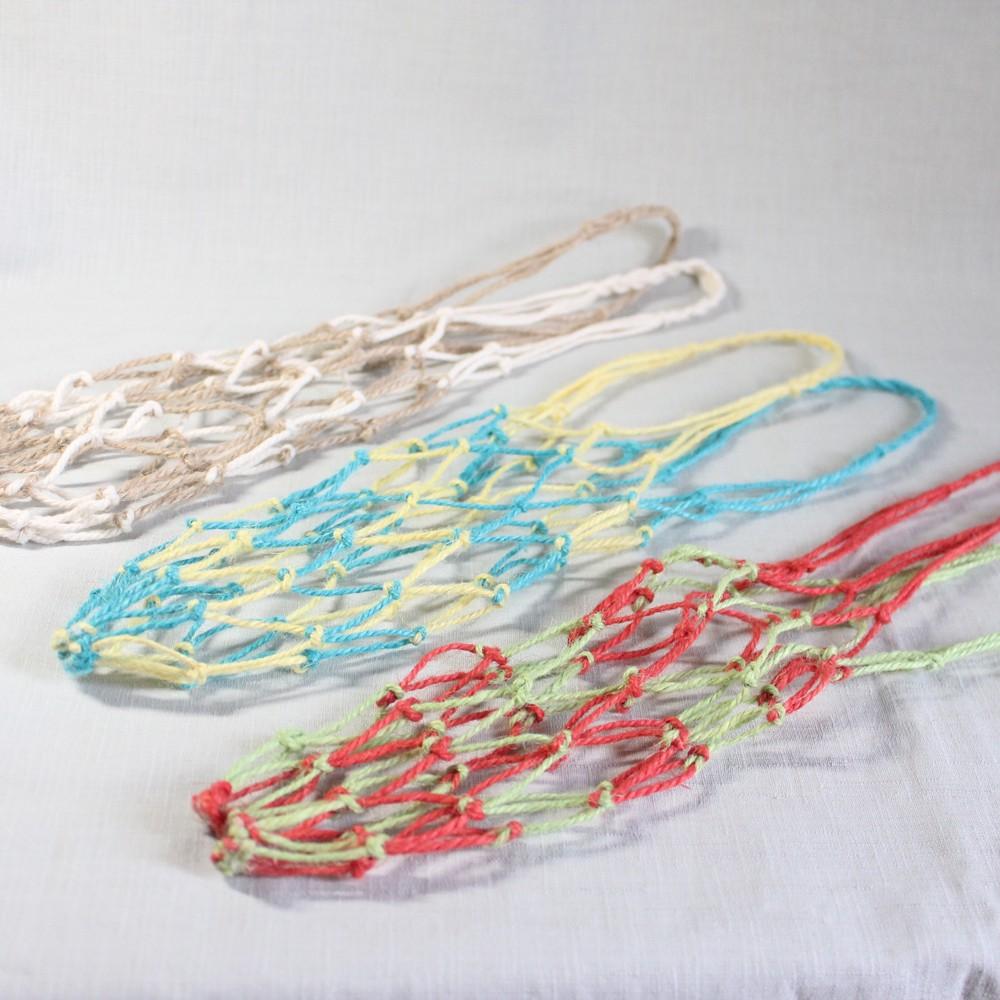 『自然入味』環保飲料提袋 - 麻繩網袋