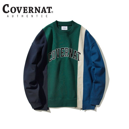[COVERNAT] 20FW 4 PANEL CREWNECK GREEN