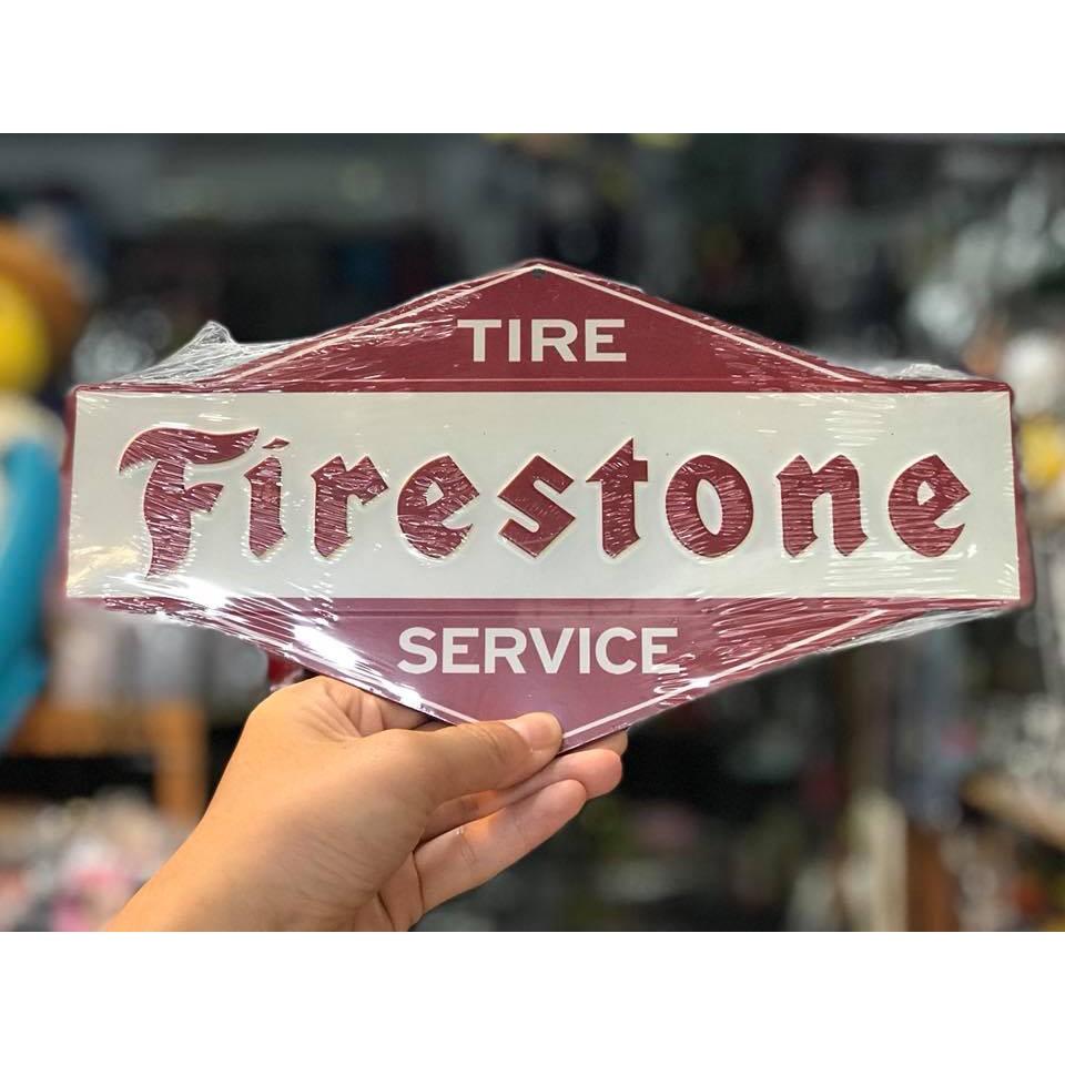 日本進口 美國經典輪胎品牌 Firestone 立體鐵牌 可掛家中/店家/車庫/玄關