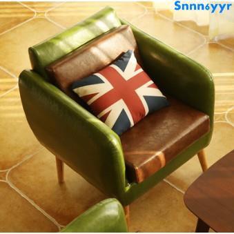 北歐單人沙發椅皮布藝咖啡雙人小沙發休閑椅客廳懶人沙發現代