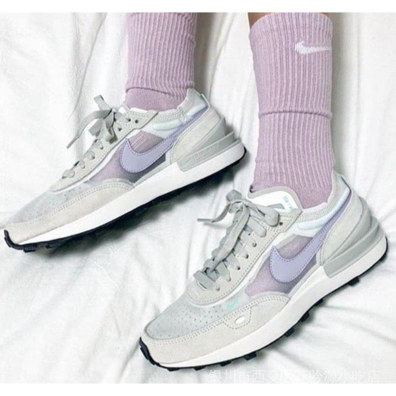Nike耐吉Waffle One 網紗女鞋復古透氣跑步鞋DC2533