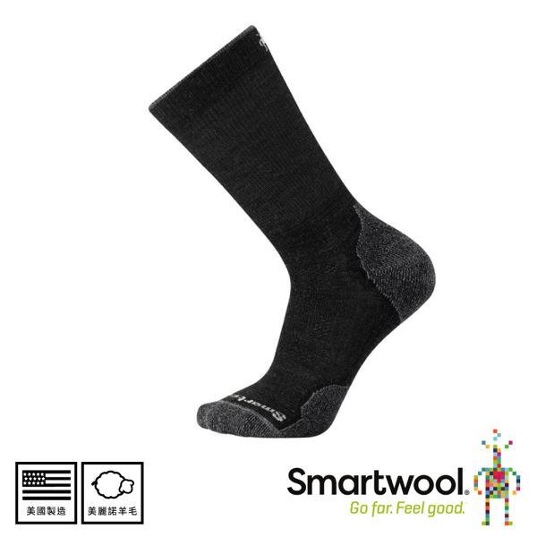 SmartWool 美國 男 Phd戶外輕量減震中長襪 《炭黑色》/SW001069/排汗襪/戶外襪/健行/悠遊山水