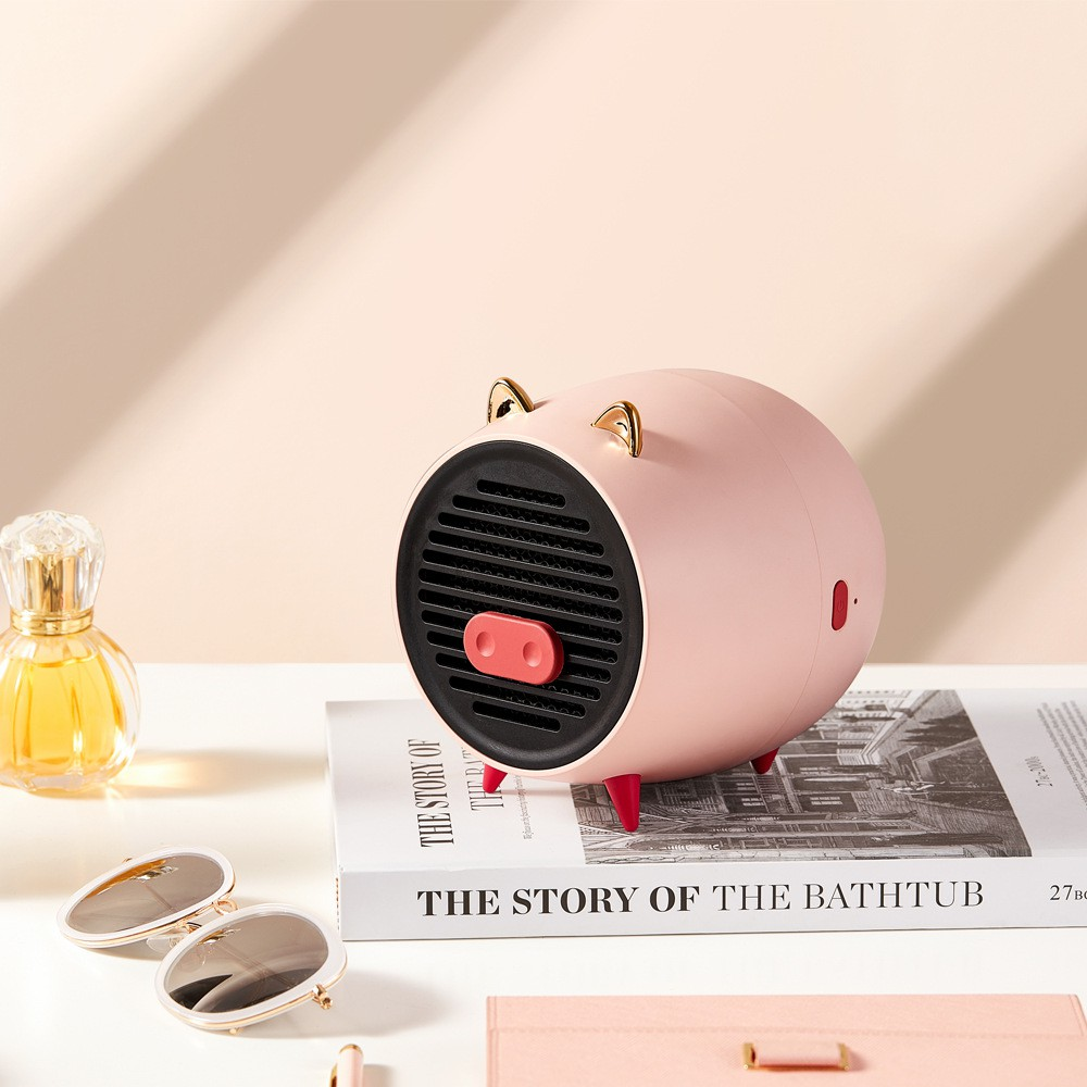 新品 特惠 迷你USB小豬暖風機 桌面取暖器 便攜電暖器