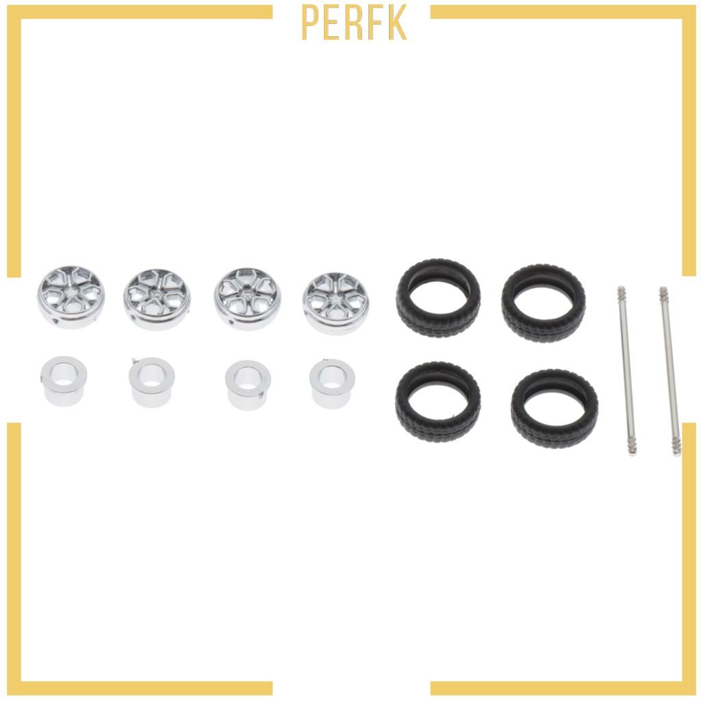 [Perfk] Tomica Hotwheels 銀色 -D 的改裝輪轂 1 / 64 汽車橡膠輪胎