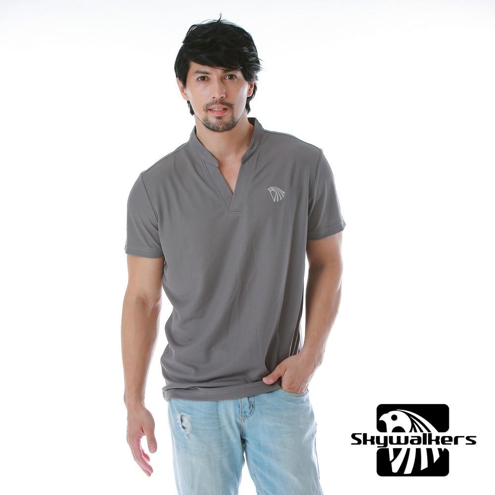 Skywalkers 《男款小立領排汗衫》(中灰)台灣衣料台灣設計台灣製造全新現貨