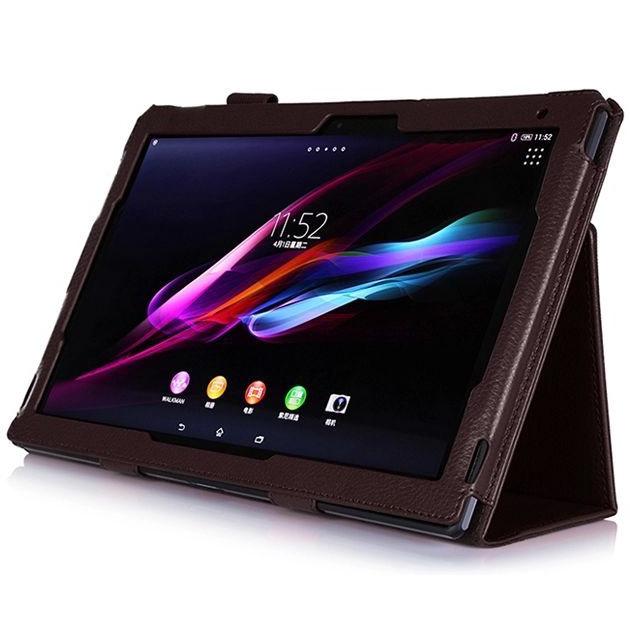 商務素色皮套適用於索尼Sony Xperia tablet Z Z2 Z4 10.1寸 平板電腦保護套 平板保護殼