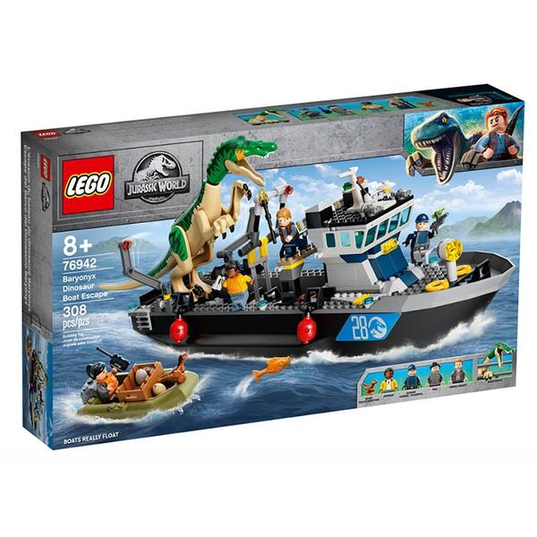 正版樂高 Jurassic World系列 LEGO 76942 堅爪龍小艇脫逃