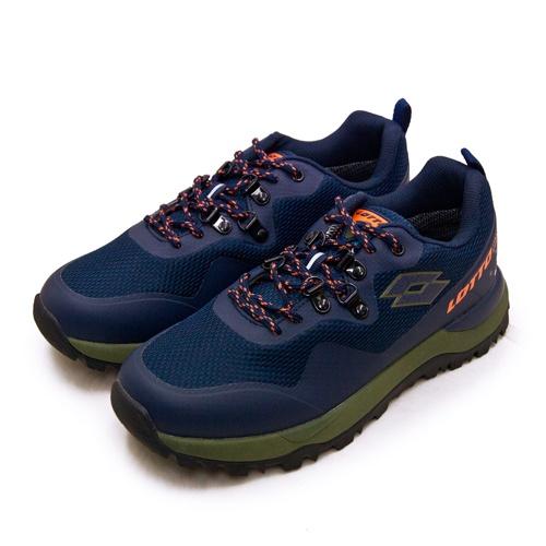 【LOTTO】專業防水郊山戶外越野跑鞋 FALCO隼系列 藍綠橘 2556 男