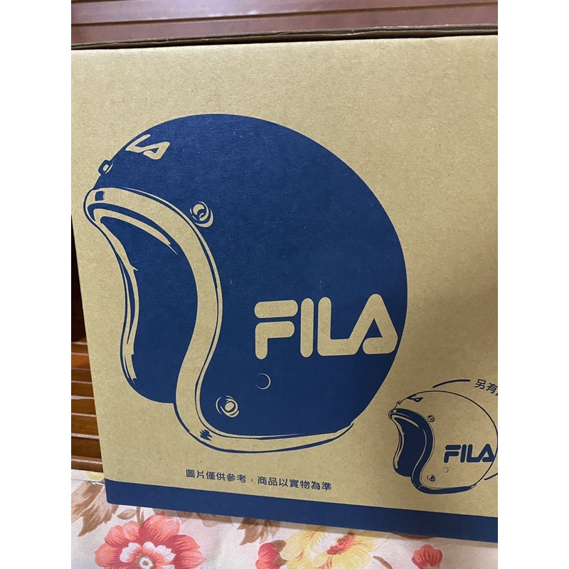FILA 藍色安全帽