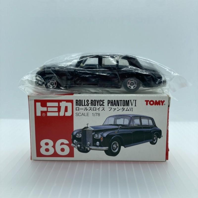 Tomica 多美 86 rolls-Royce phantom VI 勞斯萊斯 舊紅標