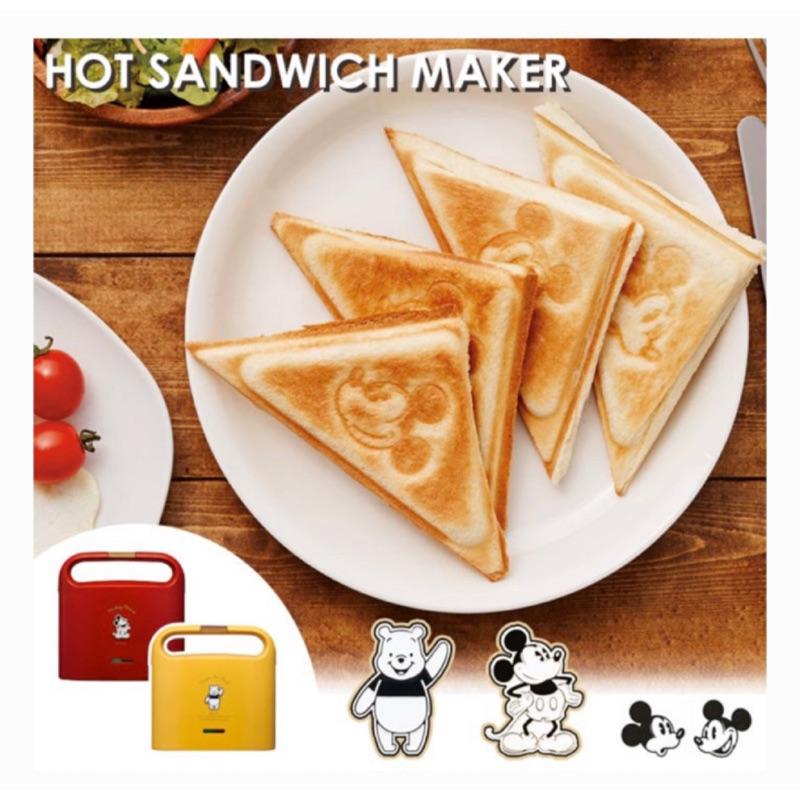 【現貨-請聊聊】日本原裝DOSHISHA 迪士尼 米奇 小熊維尼熱壓土司機 三明治機2枚燒
