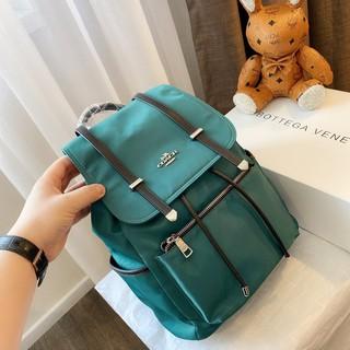 【好多包】COACH新款雙肩包 蔻馳女背包 尼龍防水布 後背包 大容量 出國旅行背包 側背包 學院風休閒書包