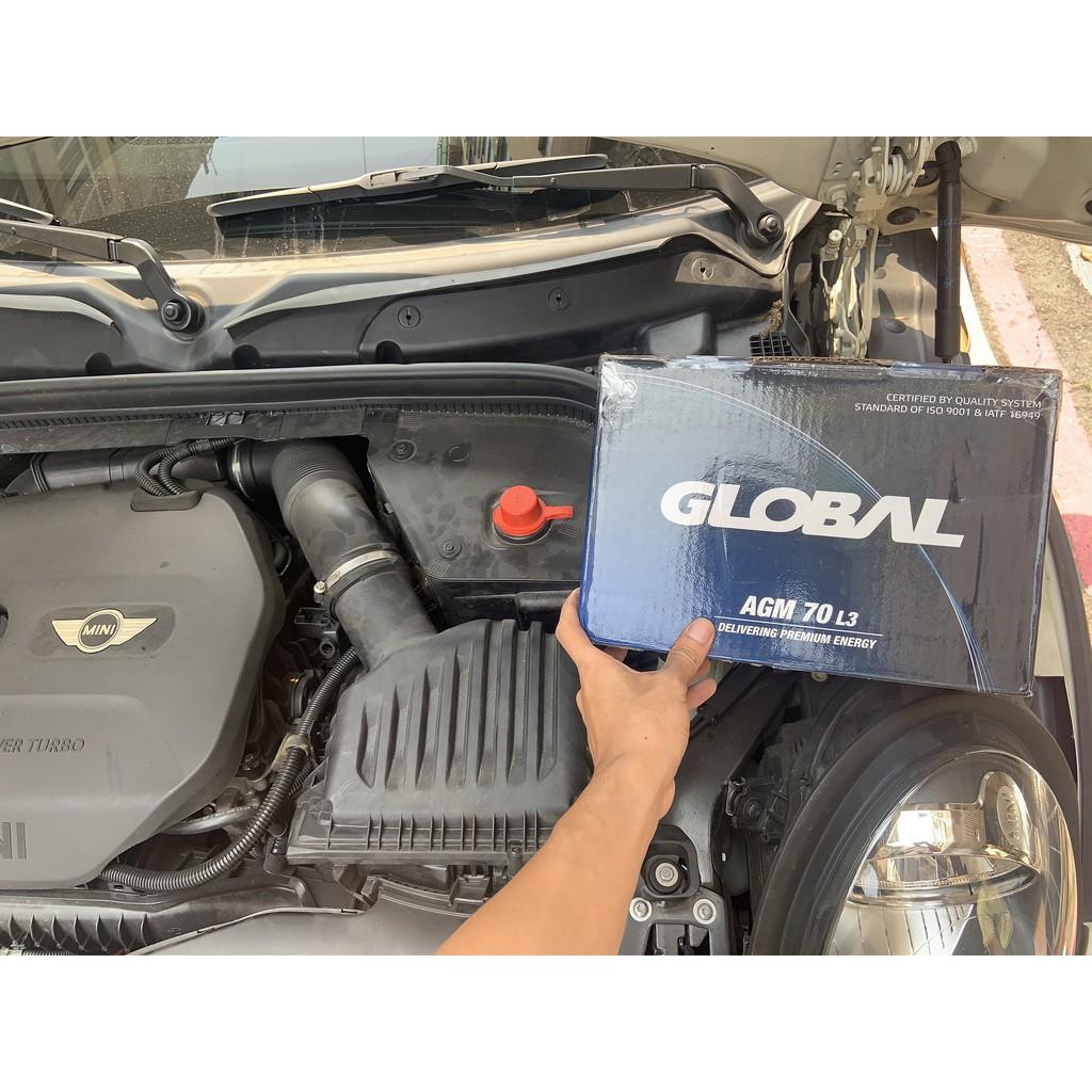 MINI COOPER 汽車電池來店安裝 505電池工坊 30分鐘快速安裝 GLOBAL SEBANG廠 AGM等級
