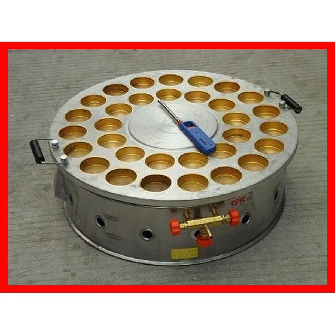 台灣[廠商直送] 瓦斯燃氣旋轉32孔紅豆餅機 車輪餅機
