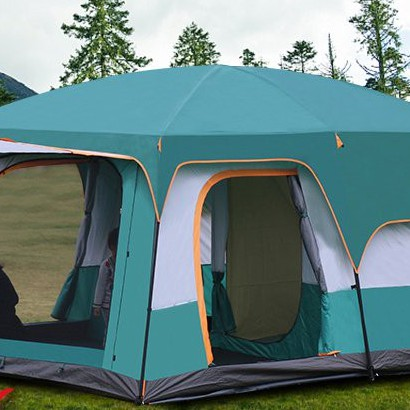 迪卡儂帳篷官方迪卡儂沙漠帳篷戶外二室一廳4人8人10人多人野營加厚防暴雨露 knRL