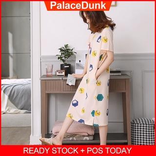 Box Cat Baju Tidur睡衣睡衣女可愛卡通家居睡裙夏季短袖睡衣新款