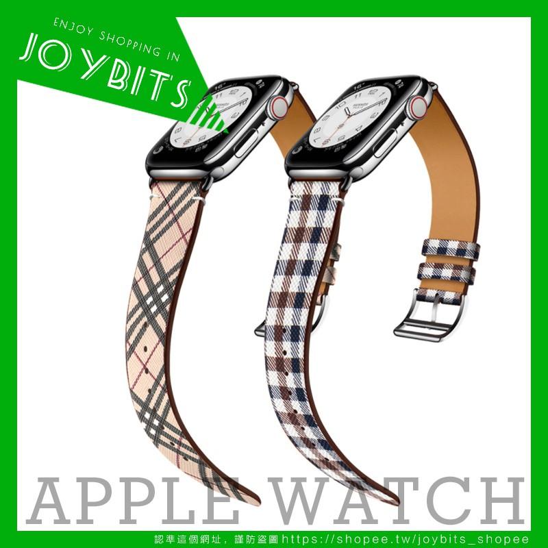 burberry真皮錶帶 蘋果手錶錶帶 apple watch6/se LV錶帶 愛馬仕手錶帶iwatch時尚個性