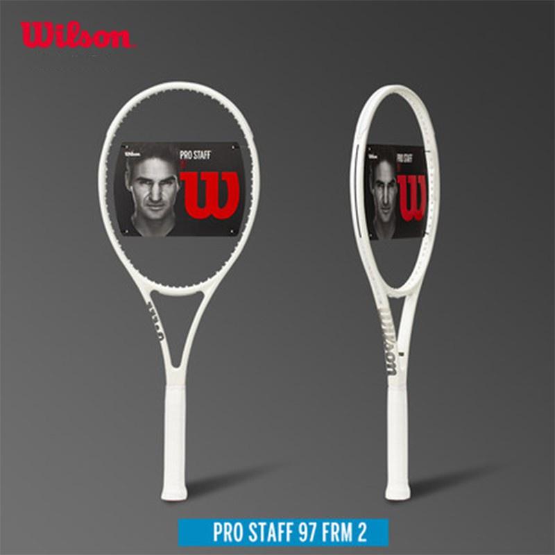 【滿299免運】Wilson  網球拍 Pro Staff RF97  費德勒 簽名白色 專業訓練 全碳纖維帶弦網