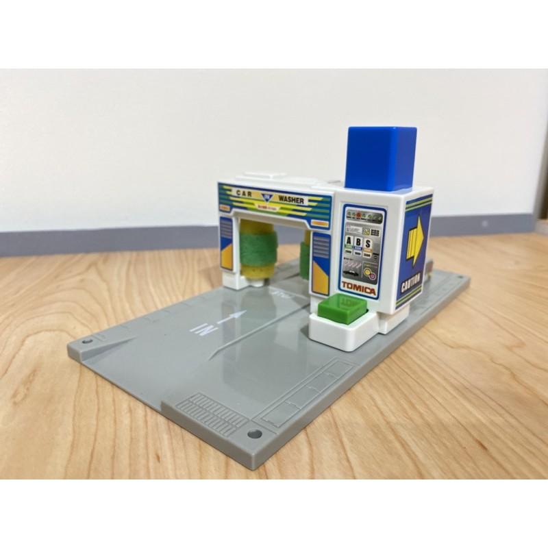 場景)tomica 洗車場 無盒 裝飾用 新城鎮 模型 場景 加油站 多美