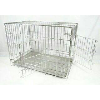 現貨快速出🔥1.5尺2尺2.5尺3尺白鐵不銹鋼雙門活動摺疊式 狗籠 貓籠 兔籠 寵物籠 臺南市