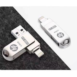 HP惠普  U盤  隨身碟  256g 優盤 雙接口 手機兩用 蘋果安卓 外接內存 128 高速USB3.0 高雄市