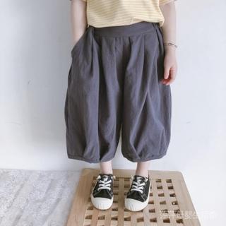 夏季韓版男女童哈倫褲 寶寶運動休閒闊腿褲 7分褲兒童