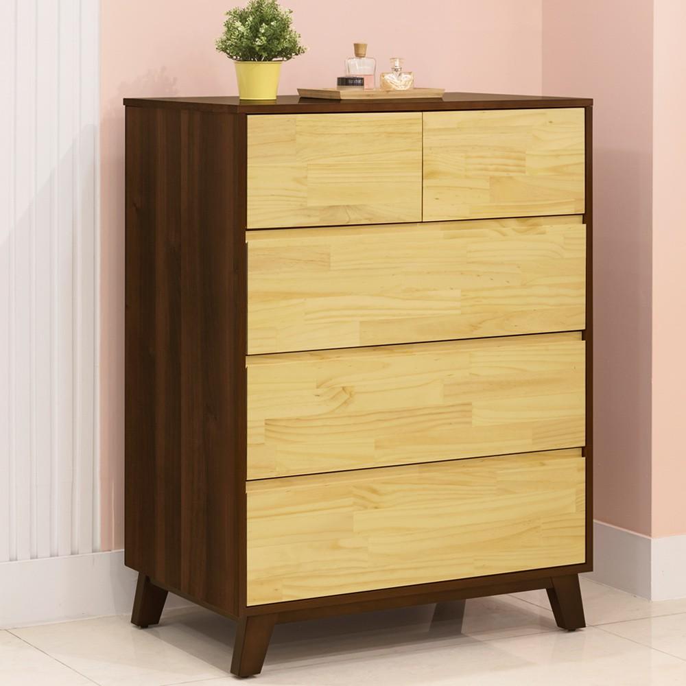 YoStyle 摩卡五斗櫃 櫥櫃 抽屜櫃 收納櫃 置物櫃 實木櫃 專人配送安裝