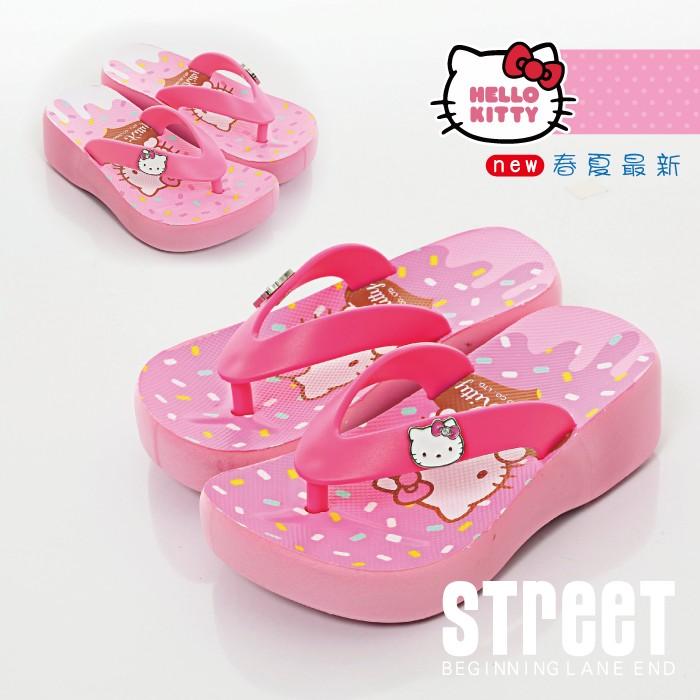 Hello Kitty 凱蒂貓 夾腳拖鞋 童鞋 厚底鞋 【街頭巷口】小P孩寶貝城 KT816856-P