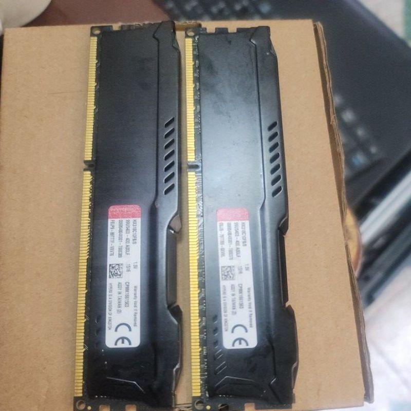 金士頓超頻版1866 DDR3 桌機記憶體ㄧ對2000元