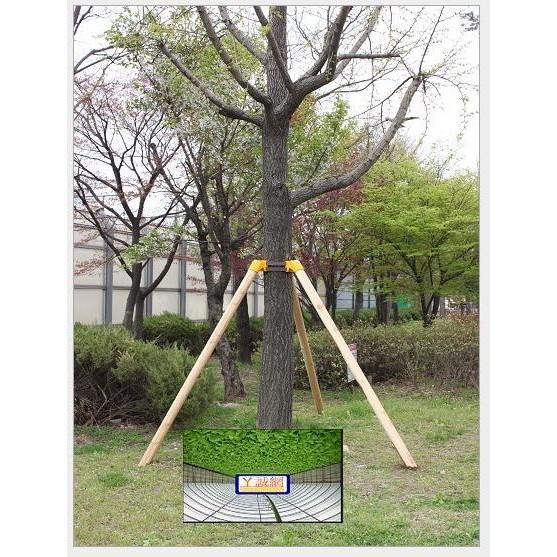 【ㄚ誠網室】園林用品黃色護林樹木固定器行道樹支撐架綠化支架TPR材料*5組下單後4-6天宅配送達