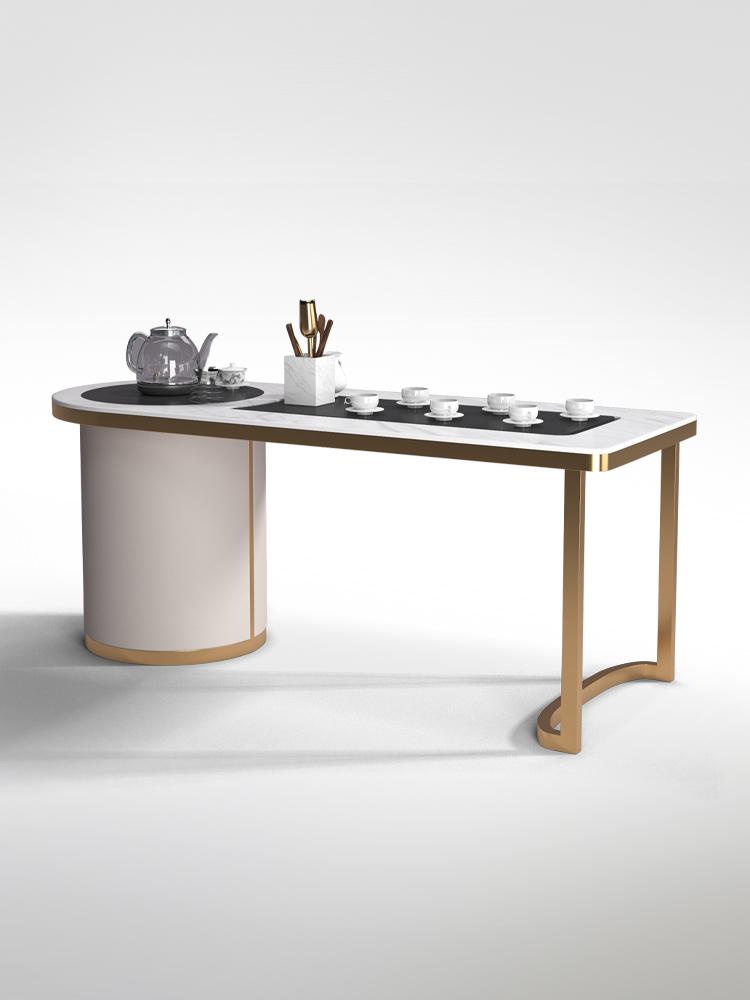 【高檔家俱】◤熱銷新品◢輕奢岩板功夫茶桌組合現代簡約自動上水辦公室茶几泡茶台一體家用