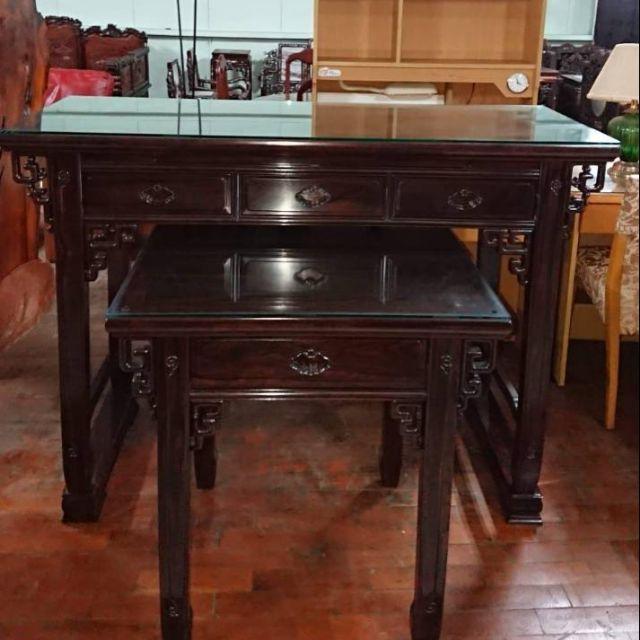 中式古典黑檀木神明上下桌佛桌組合 一格二手家具 客廳店面仿古家具 懷舊時尚
