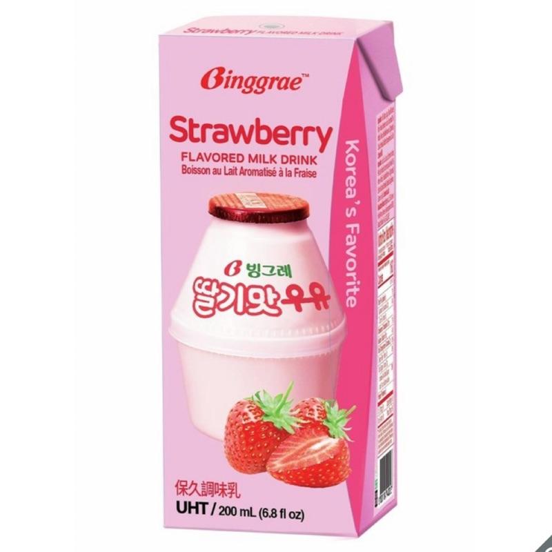 蓉媽現貨 拆賣COSTCO好市多 韓國原裝進口 BINGGRAE 草莓牛奶保久調味乳 香蕉牛奶 可爾必思 美祿高鈣可可