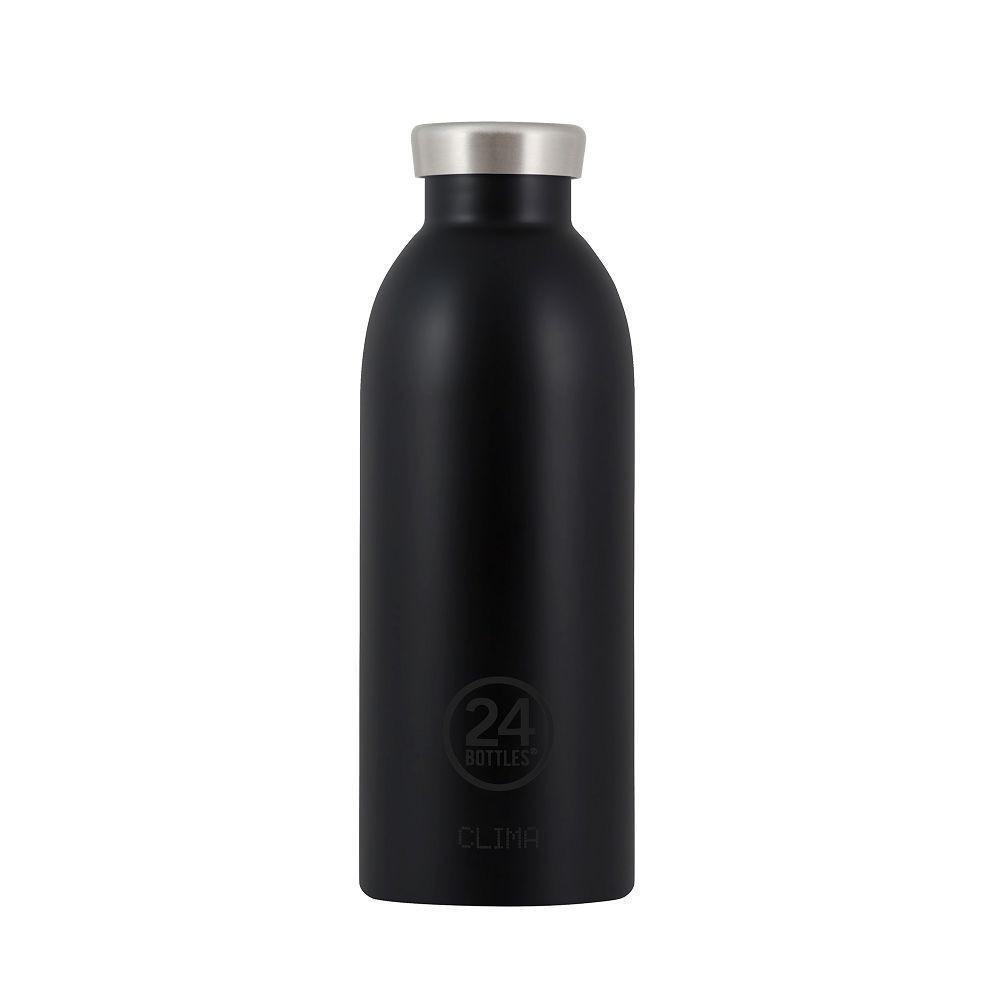 義大利 24Bottles 不鏽鋼雙層保溫瓶 500ml-紳士黑