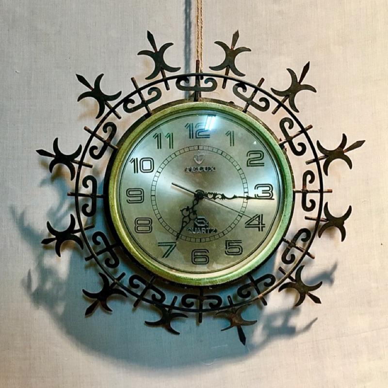 Telux 鐵力士 金屬 老時鐘 時鐘 掛鐘 鐘 時計