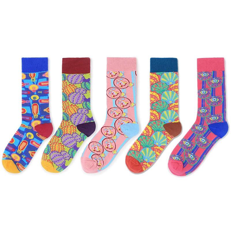 大唐襪業 D143韓國街頭風潮襪個性高筒中筒襪運動滑板襪個性成人塑形襪