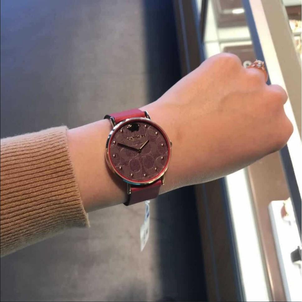 【實拍】限時免運  實拍19年限量款 Coach蔻馳手錶 新款菊小金豬錶小紅錶女石英女錶時尚腕錶 配件齊全