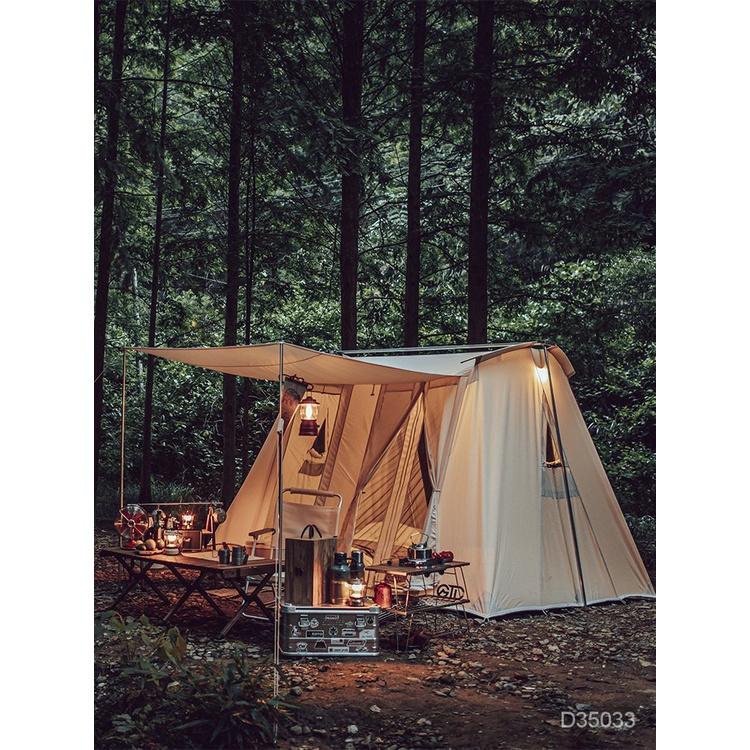 【現貨速發】GTD冰川沙漠 四人帳美式弓形帳復古棉布露營帳篷戶外野營春日帳篷