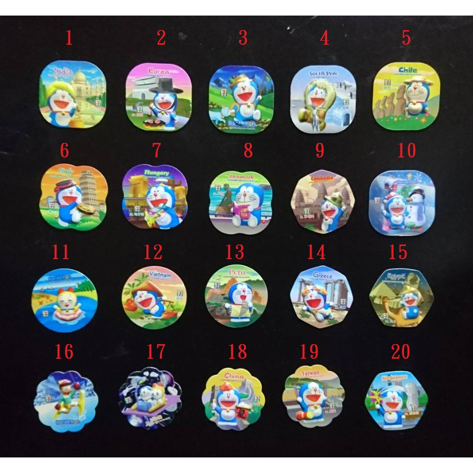 7-11集點-日本漫畫動畫小叮噹磁鐵  藤子·F·不二雄 哆啦A夢大雄靜香胖虎小夫 冰箱貼裝飾收藏