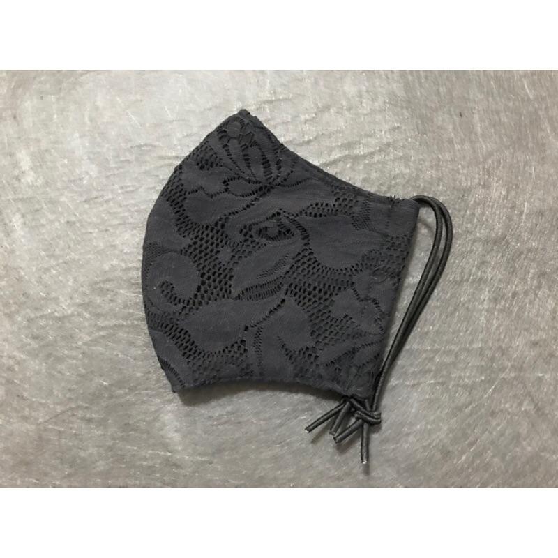 黑色蕾絲兩用口罩套~