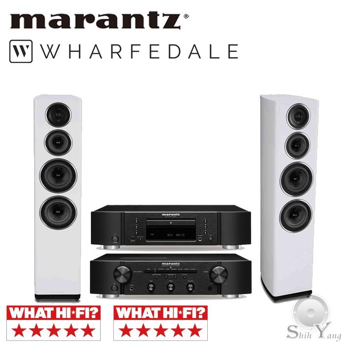 Marantz CD6007 CD播放機 + PM6007 綜合擴大機 + Wharfedale 11.4 落地喇叭