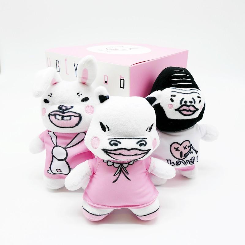 娃娃套組B(河馬+白兔+金剛)-醜醜動物園